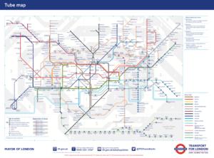 London tube map. London underground map